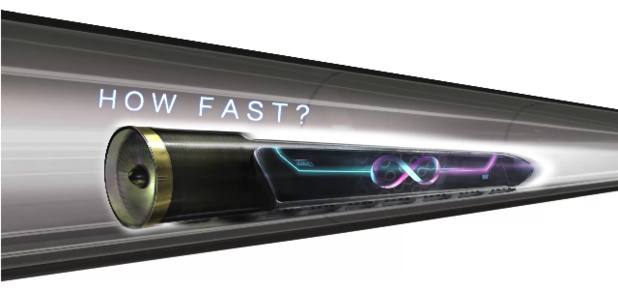 Hyperloop pourrait transporter des passagers à plus de 1100 km/h - DR : Hyperloop Technologies