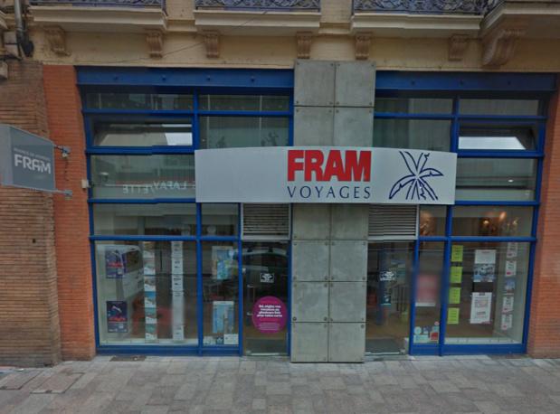 Les clients de FRAM à Toulouse n'iront plus réserver leurs voyages rue Lapeyrouse - DR : Google Street View