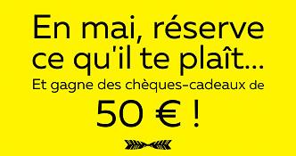 Kuoni France : 50 € en chèque-cadeau pour toute réservation jusqu'au 31 mai 2016