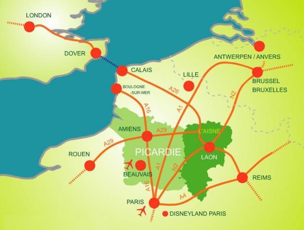 Comment venir dans l'Aisne ?