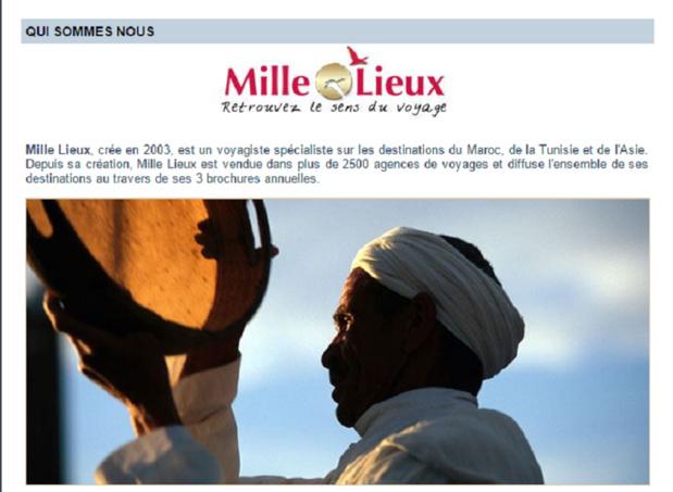 Mille Lieux s'était spécialisé sur le Maroc, la Tunisie et l'Asie avec sa marque Akiou - Capture d'écran