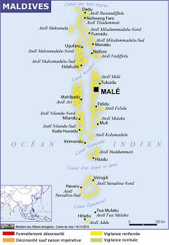 """Maldives : le Quai d'Orsay appelle à la """"vigilance renforcée"""" dans les îles-Hôtels"""