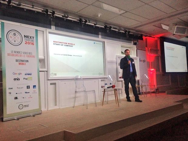Laurent Queige lors de la conférence Next Tourisme (c) JG