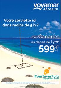 Canaries : Voyamar s'affiche à Lyon et Nantes