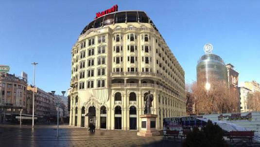 Le Skopje Marriott Hotel compte 164 chambres au cœur du quartier d'affaires de la capitale macédonienne - Photo : Marriott Hotels