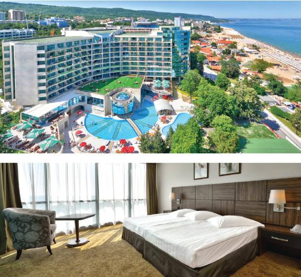 VI programme un séjour hôtel club 5* en all inclusive à partir de 560 € TTC : le Marina Grand Beach Resort 5  étoiles, situé dans la station balnéaire de Golden Sands (les sables d'or) - Photo DR