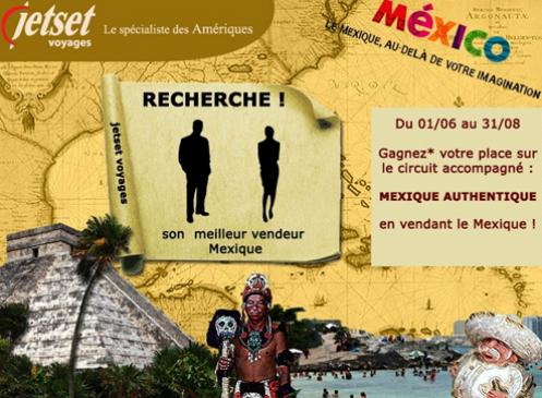 Jetset et l'OT du Mexique font gagner un voyage aux agences