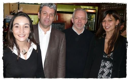 Philippe Beissier entouré d'Alain Sarlet, directeur commercial et de son équipe