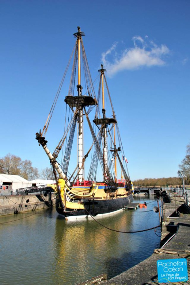 The Hermione frigate (Photo: Rochefort Océan Tourisme)