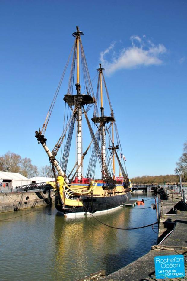 The Hermione frigate (Photo: Rochefort Océan Tourisme)