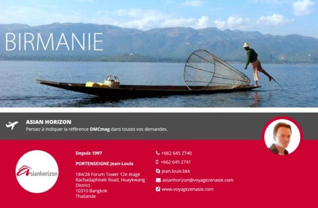 Asian Horizon, spécialiste de plusieurs destinations asiatiques : Thaïlande, Birmanie, Vietnam,  Laos et Cambodge