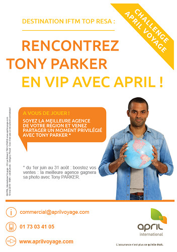 Tony Parker sera l'invité d'April International Voyage à l'IFTM Top Résa - DR : April international Voyage