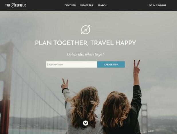 Trip Republic, un nouveau planificateur de voyage sous forme d'itinéraire (c) capture du site