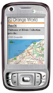 Châteaux et Hôtels Collection sur le portail mobile d'Orange
