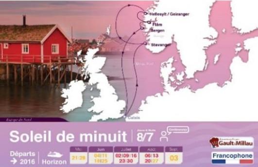 L'itinéraire de la croisières en Europe du Nord - DR : Croisières de France