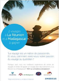 Amadeus met en jeu un voyage à La Réunion et un voyage à Madagascar pour son concours spécial AGV - DR : Amadeus