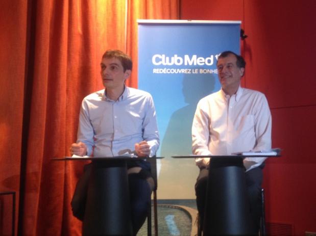 Sylvain Rabuel, DG France Europe Afrique du Club Med, aux côtés d'Henri Giscard D'Estaing Président du Club Med (c) JG