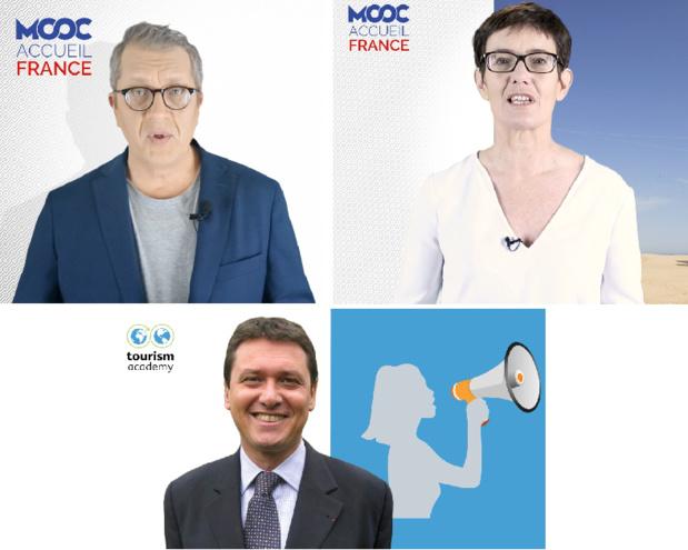 Les fondateurs de Tourism Academy : Marie Bergereau, Claude Bannwarth et Thierry Baudier - DR