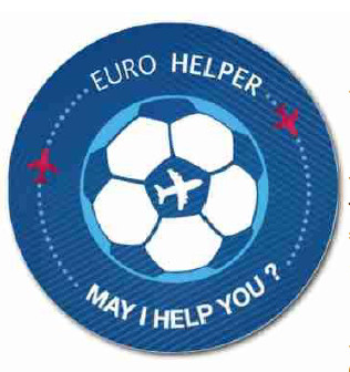 Le badge des Euro Helpers - DR : Thomas Rigollet/Aéroports de Lyon