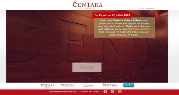 Le jeu concours Centara Hotels & Resorts - DR