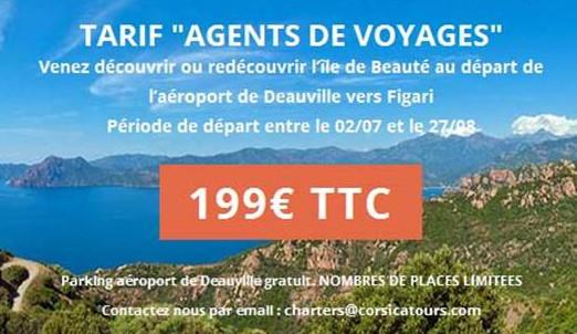 Corsicatours : offre spéciale agents de voyages Deauville - Figari