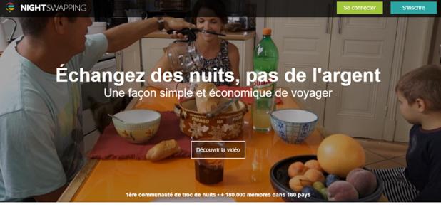 Nightswapping vient de boucler une deuxième levée de fonds de 2 millions d'euros - Capture d'écran