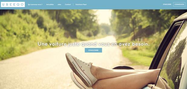 Ubeeqo permet de choisir entre plusieurs modes de transport - Capture d'écran