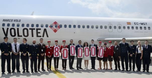 La 8 millionième passagère de Volotea a volé entre Venise et Catane - Photo : Volotea