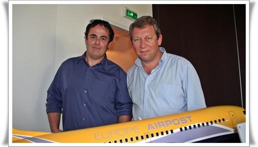 Frédéric de Fournoux & Jean Delgoffe, délégué commercial PACA, lors de la présentation à Marseille du lancement des nouvelles dessertes