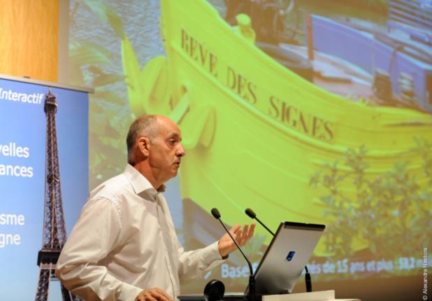 Guy Raffour du cabinet Raffour Interactif lors d'une de ses conférences - Photo A. Nestora