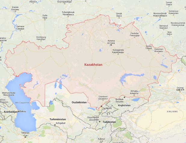 Le Kazakhstan établira un régime sans visa pour les pays de l'OCDE dont la France, ainsi que pour la Malaisie, Monaco, les Emirats Arabes Unis et Singapour dès le 1er janvier - Photo Google Map