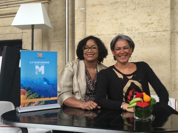Karine Mousseau (à droite), la nouvelle présidente du Comité Martiniquais du Tourisme et Joëlle Désir récemment nommée à la direction générale.