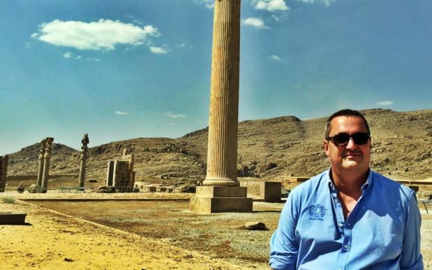 """Thierry Houalard : """"L'Iran, c'est une destination qui s'adresse à des gens qui ont une véritable culture du voyage, c'est-à-dire des voyageurs plutôt que des vacanciers..."""" /photo JDL"""