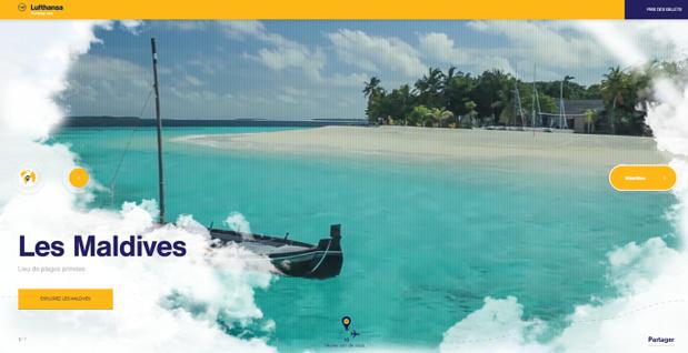 Le site Internet a pour but d'informer et d'inspirer les passagers de Lufthansa - Capture d'écran