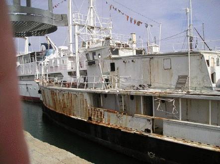 Le bateau légendaire qui a parcouru toutes les mers du globe est en piteux état...