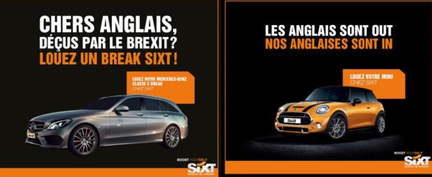 Sixt détourne le Brexit pour communiquer avec humour - DR : Sixt