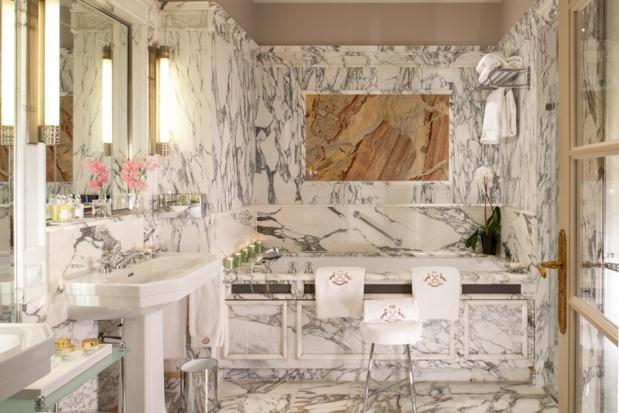 Salle de bain de l'hôtel Meurice - Meurice 101 Photo © GdeLaubier