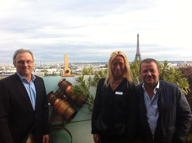 René Thibault, Olivia Even Devillechaise et Emmanuel Foiry lors d'une soirée de présentation de la production aux agences de voyages - DR LAC