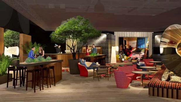 Le lobby du Studio 16 a pour ambition d'illustrer le rez-de-chaussée d'un hôtel virtuel - DR : EquipHotel