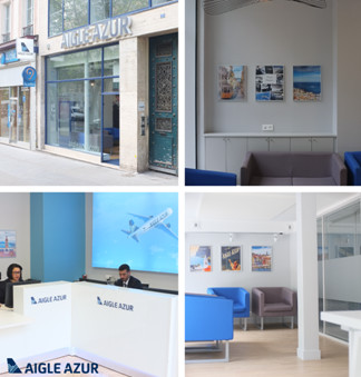 L'agence Aigle Azur a été rénovée à Paris - DR