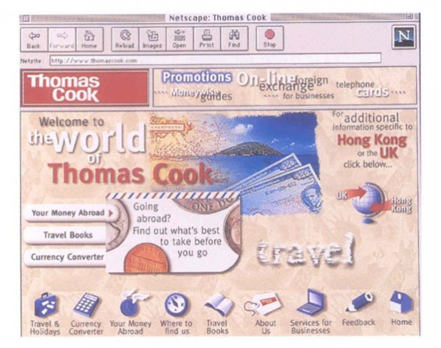 Le site Internet de Thomas Cook - DR