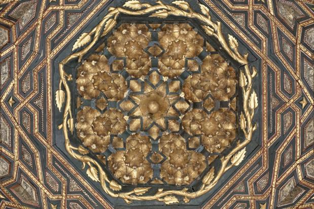 L'Art Camera permet de voir les détails du plafond Mudejar du château de Valladry (c) Institut culturel de Google