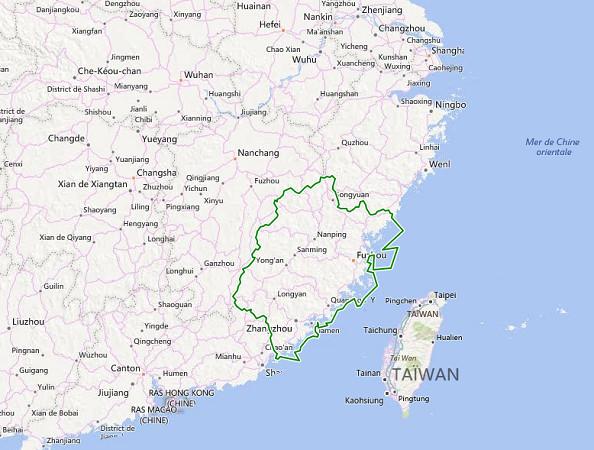 C'est la province chinoise de Fujian qui est menacée par le passage du typhon Nepartak samedi 9 juillet 2016 - DR : Bing