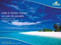 La couverture de la brochure Inde et Océan Indien - DR : Costa Croisières