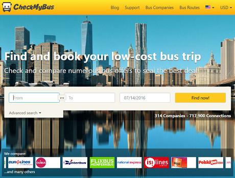 CheckMyBus élargit son offre et lance un nouveau site Internet au Mexique - Capture d'écran