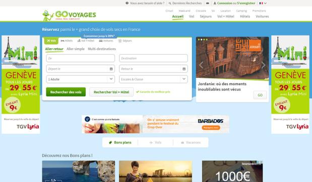 Odigeo va se séparer du pôle séjours/packages de Go Voyages - Capture d'écran