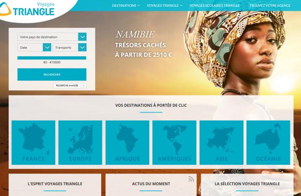 Le site Internet de Voyages Triangle désormais détenu par les groupes Chauchard et Delbos - Capture écran
