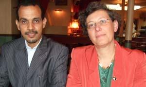 Mohamed Ould Biyah et Hélène Abraham