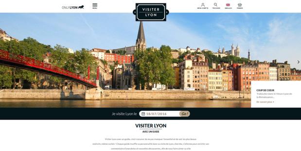 VisiterLyon.com est en ligne depuis le 12 juillet 2016 - Capture d'écran