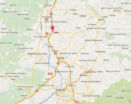 L'homme armé s'est retranché dans un hôtel Formule 1 de Bollène, dans le Nord du Vaucluse - DR : Google Maps